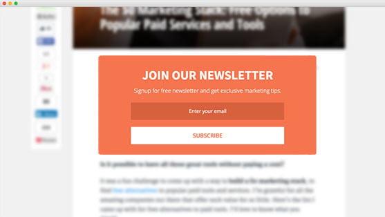 MailMunch formulier voor nieuwsbriefaanmeldingen