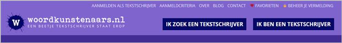 Voorbeeld navigatiestructuur website woordkunstenaars.nl